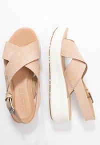 Timberland - LOS ANGELES WIND SLINGBAC - Platform sandals - light beige - 3