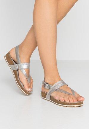 MALIBU WAVES THONG - Sandály s odděleným palcem - silver