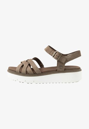 SAFARI DAWN - Platform sandals - olive