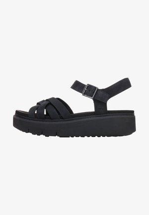 SAFARI DAWN - Platform sandals - jet black