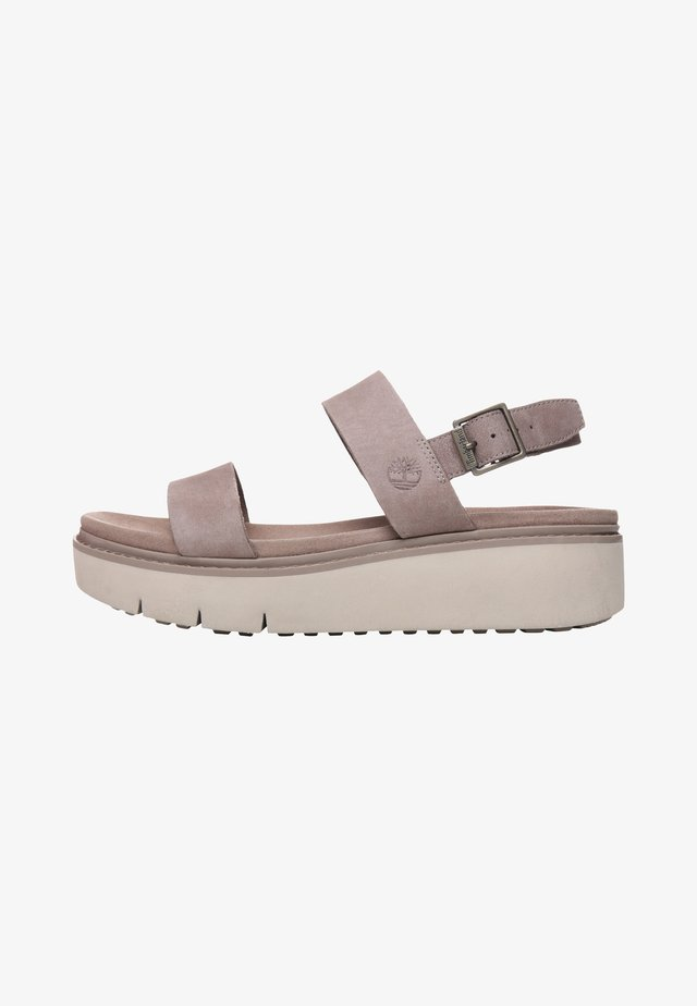 SAFARI DAWN 2BAND - Plateausandalette - taupe brown