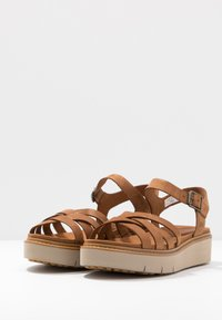 Timberland - SAFARI DAWN - Platform sandals - rust - 2