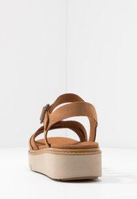 Timberland - SAFARI DAWN - Platform sandals - rust - 3