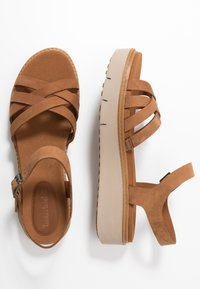 Timberland - SAFARI DAWN - Platform sandals - rust - 1
