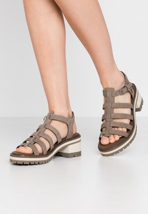 VIOLET MARSH FISHERMAN - Platform sandals - olive