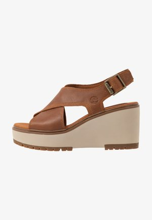 KORALYN CROSS BAND - High heeled sandals - rust
