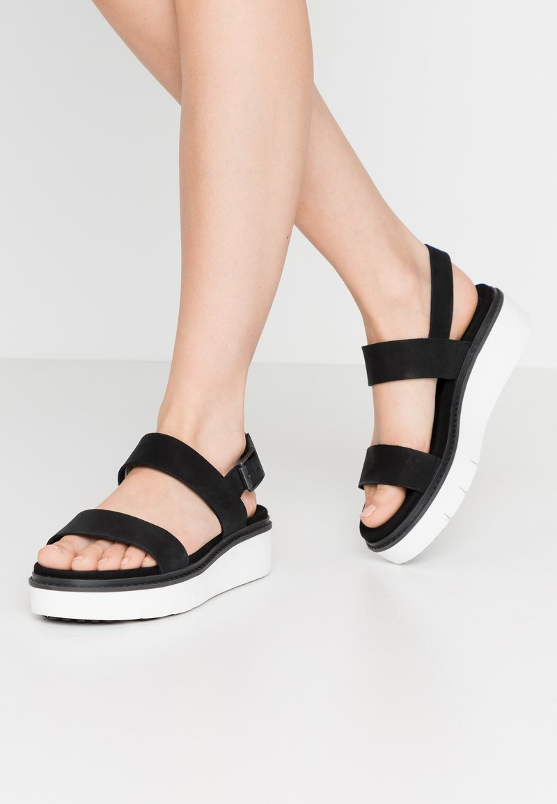 Timberland - SAFARI DAWN  - Platform sandals - black