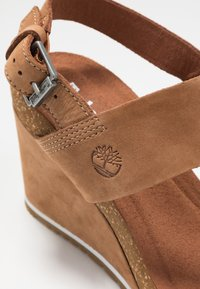 Timberland - CAPRI SUNSET WEDGE - Sandales à plateforme - rust - 2