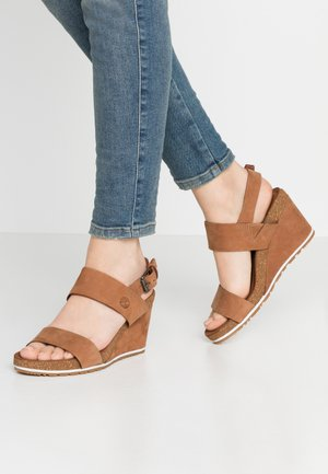 CAPRI SUNSET WEDGE - Platform sandals - rust