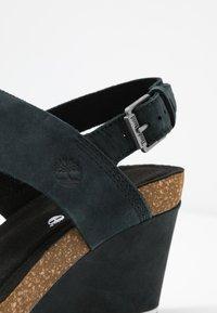 Timberland - CAPRI SUNSET WEDGE - Platform sandals - black - 2