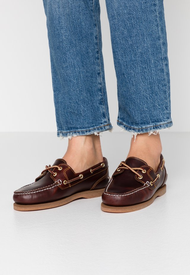 CLASSIC BOAT 2-EYE - Boat shoes - burgundy