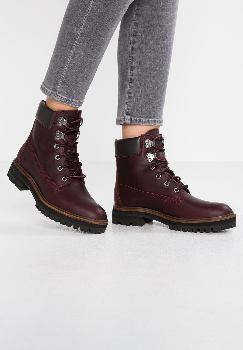 Timberland - LONDON SQUARE 6IN BOOT - Lace-up ankle boots - bordeaux