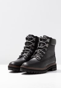 Timberland - LONDON SQUARE 6IN BOOT - Lace-up ankle boots - jet black mincio - 4