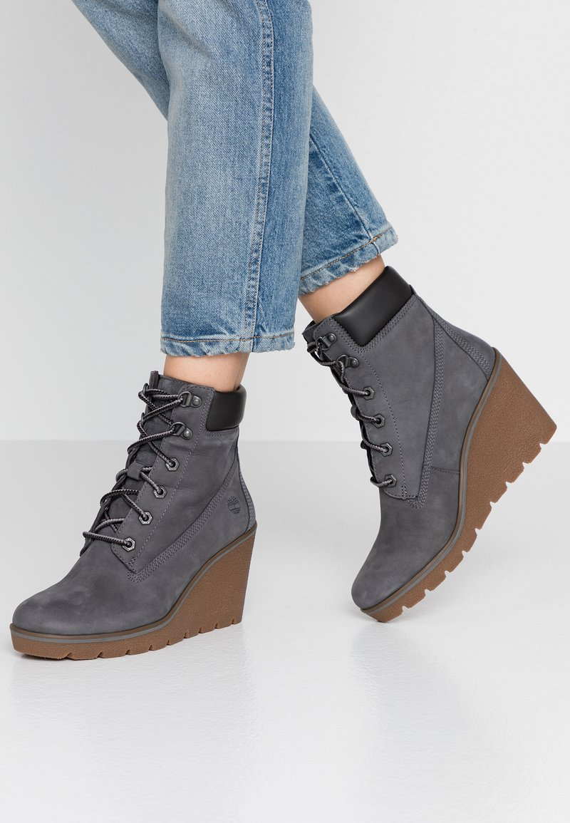 Timberland - PARIS HEIGHT  - High heeled ankle boots - medium grey