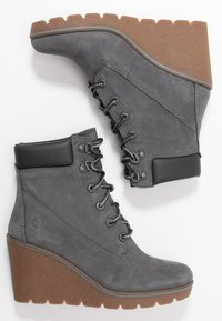 Timberland - PARIS HEIGHT  - High heeled ankle boots - medium grey - 3