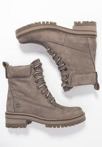 Timberland - COURMAYEUR VALLEY BOOT - Snørestøvletter - taupe grey - 3
