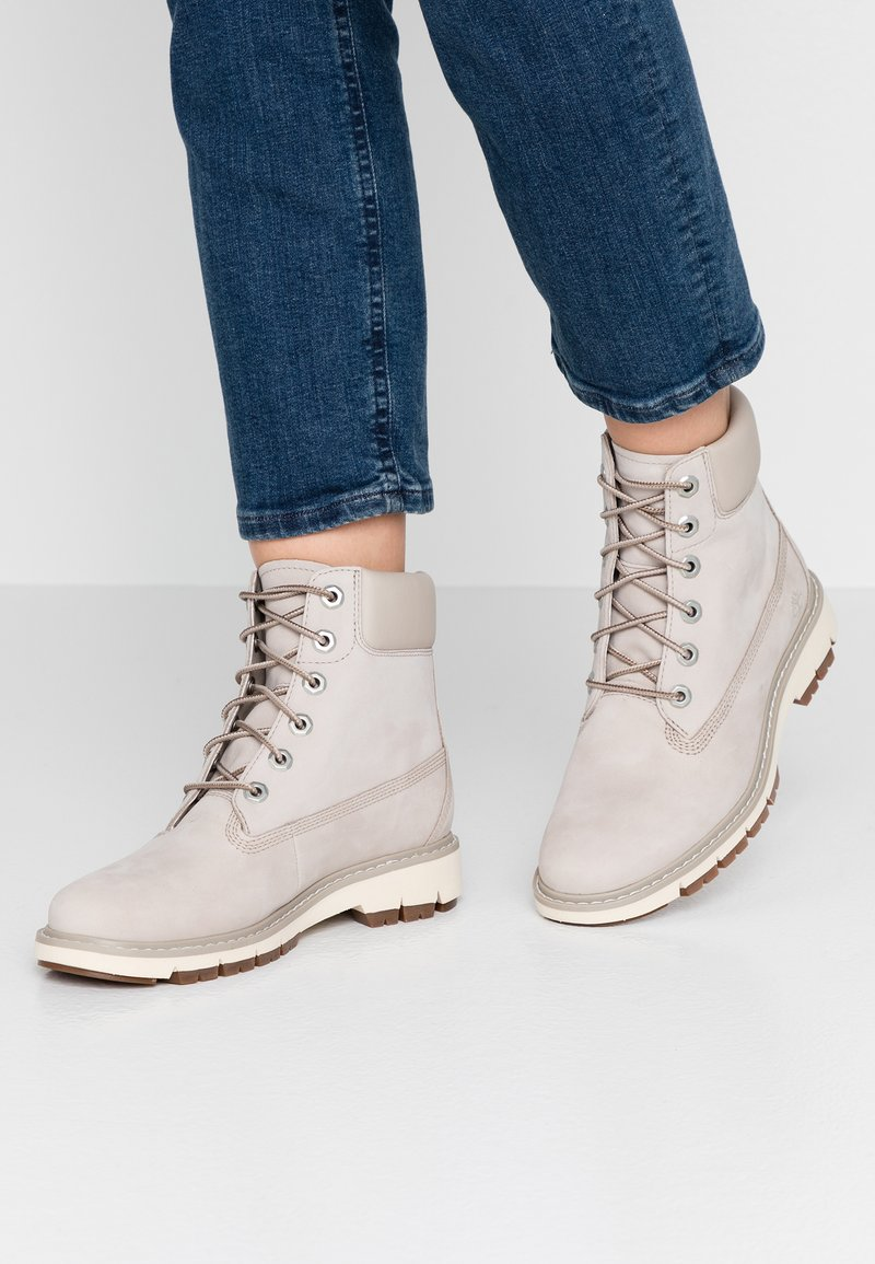 Timberland - LUCIA WAY 6IN WP BOOT - Schnürstiefelette - light taupe