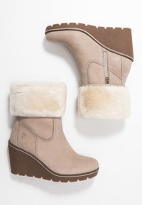 Timberland - PARIS HEIGHT - Bottines à talons hauts - taupe - 3
