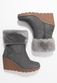 Timberland - PARIS HEIGHT - High Heel Stiefelette - medium grey - 3