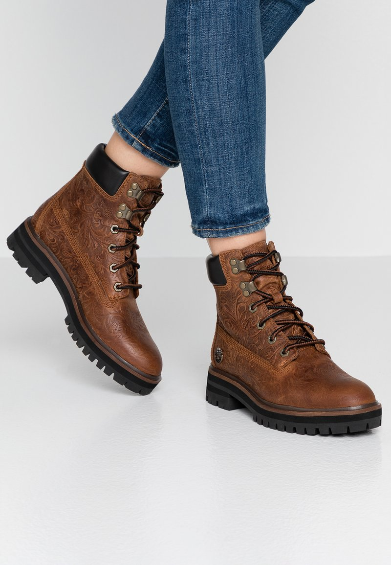 Timberland - LONDON SQUARE 6IN BOOT - Schnürstiefelette - cognac