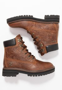 Timberland - LONDON SQUARE 6IN BOOT - Schnürstiefelette - cognac - 3