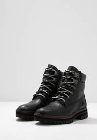 Timberland - LONDON SQUARE 6IN BOOT - Schnürstiefelette - black - 4