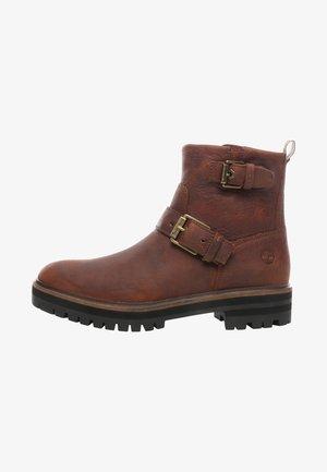 LONDON SQUARE - Cowboy/biker ankle boot - brown