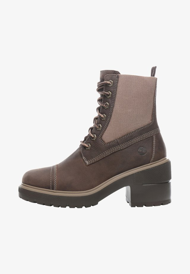BLOSSOM MID BOOTIE - Bottines à lacets - taupe brown