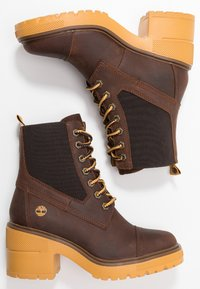 Timberland - BLOSSOM MID BOOTIE - Lace-up ankle boots - brown - 3