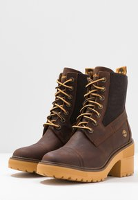 Timberland - BLOSSOM MID BOOTIE - Lace-up ankle boots - brown - 4