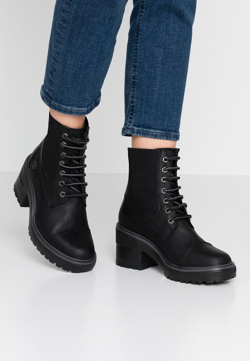 Timberland - BLOSSOM MID BOOTIE - Lace-up ankle boots - black