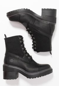 Timberland - BLOSSOM MID BOOTIE - Lace-up ankle boots - black - 3