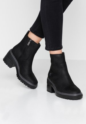 BLOSSOM SIDE ZIP - Platform ankle boots - black