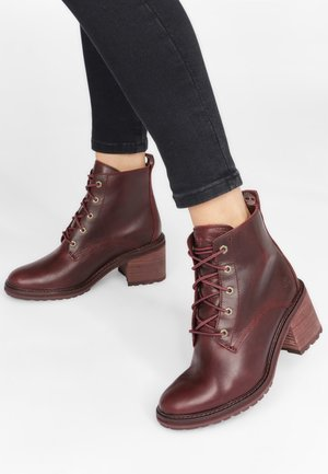 SIENNA - Lace-up ankle boots - purple