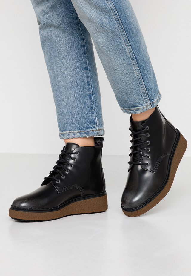 BELL LANE LACE UP - Boots à talons - mid grey