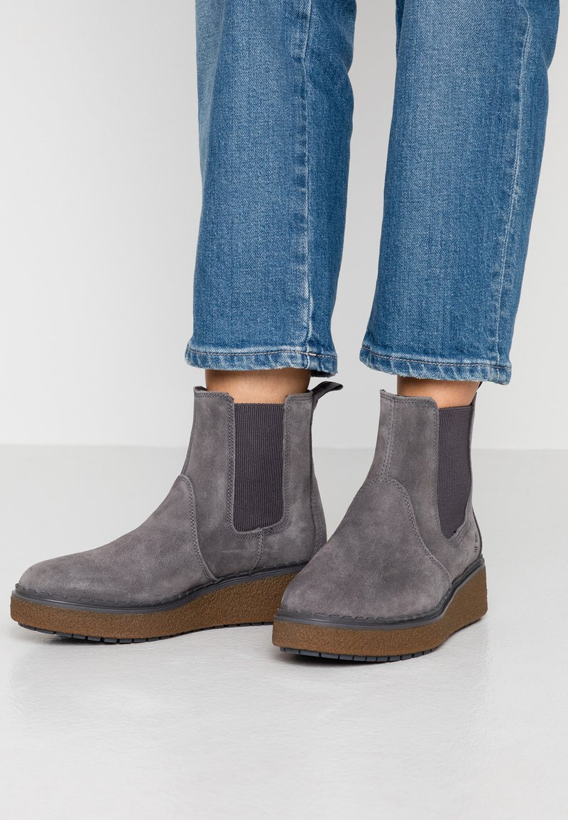 Timberland - BELL LANE CHELSEA - Wedge Ankle Boots - dark grey