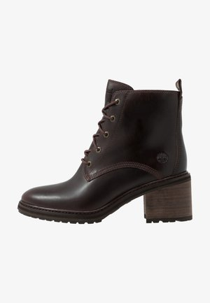 SIENNA HIGH LACE UP - Lace-up ankle boots - dark brown/full grain