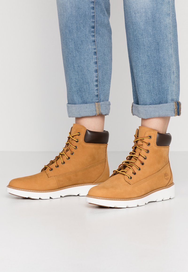 Timberland - KEELEY FIELD 6IN - Lace-up ankle boots - wheat