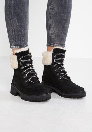 COURMAYEUR VALLEY - Šněrovací kotníkové boty - black