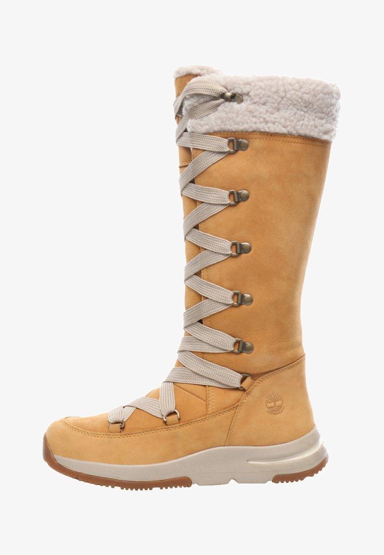 Timberland - MABEL TOWN WP TALL MUKLUK - Lace-up boots - tan
