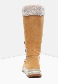 Timberland - MABEL TOWN WP TALL MUKLUK - Lace-up boots - tan - 3
