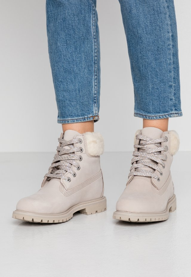 6IN PREMIUM - Lace-up ankle boots - light taupe