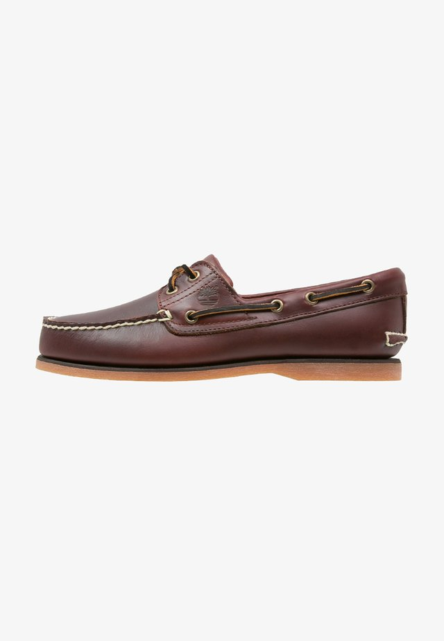 CLASSIC 2 EYE - Boat shoes - rootbeer