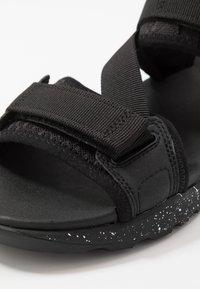 Timberland - RIPCORD 2 STRAP  - Sandals - black - 5