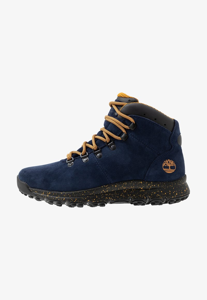 Timberland - WORLD HIKER MID - Bottines à lacets - navy