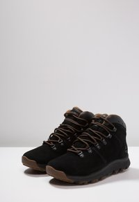 Timberland - WORLD HIKER MID - Lace-up ankle boots - black - 2