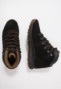 Timberland - WORLD HIKER MID - Lace-up ankle boots - black - 1