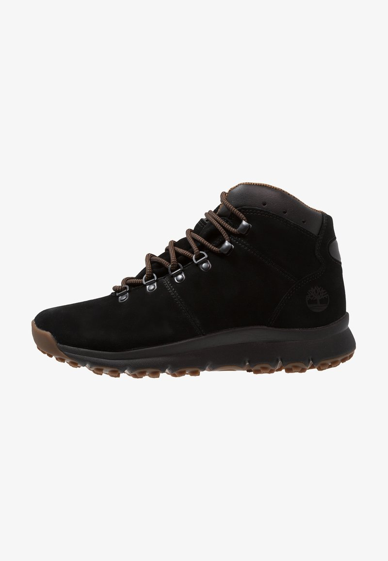 Timberland - WORLD HIKER MID - Lace-up ankle boots - black