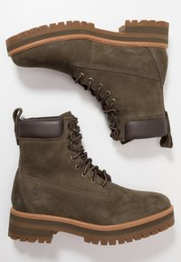 Timberland - COURMA GUY BOOT WP - Lace-up ankle boots - olive - 1