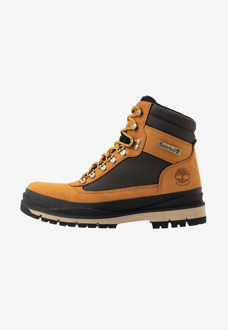 Timberland - FIELD TREKKER WP - Lace-up ankle boots - wheat/black